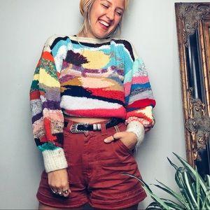 Vintage Handmade Eclectic Sweater